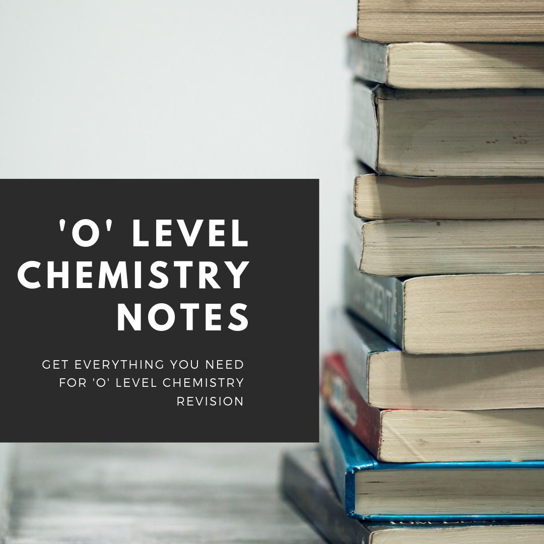 O level chemistry sec 3 exam revision notes