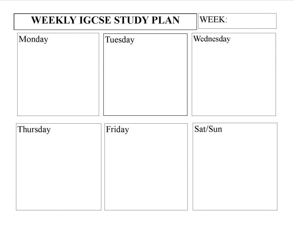 igcse-homeschooling-weekly-study-planner